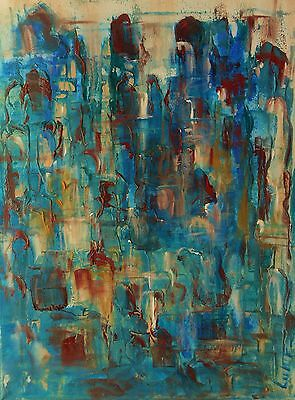 "Original oil painting by Nalan Laluk: ""City of Blues, 2"""