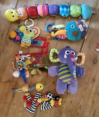 Bundle of baby toys incl Lamaze, wooden beads, Mamas and Papas