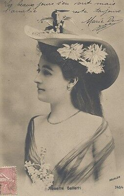 CPA Actrice 1900 / Rosette Galletti / 1905