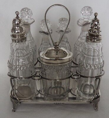 Complete! George Iii London 1805 Solid / Sterling Silver Cruet / Condiment Set