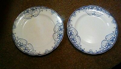 """2 Grimwades """"Athens"""" 9.5 inch Dinner Plates"""