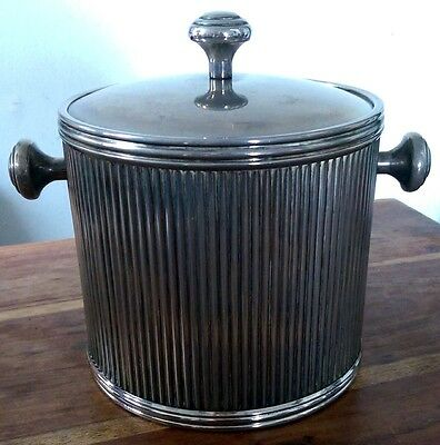Vintage silver plated ice bucket