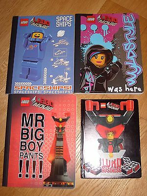 New - Lego Movie Notebooks x 3 + Journal - Benny, Wyldstyle and Lord Business