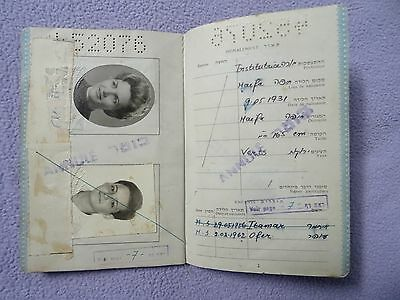 1968 OLD ISRAEL CANCELLED PASSPORT Not Valid  ANABY NAOMI  + visas & stamps