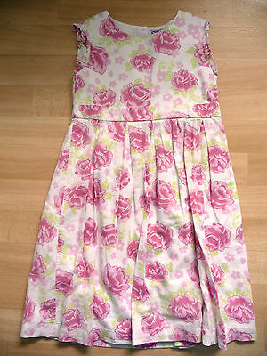 Girls pink floral summer dress age 5-6 years