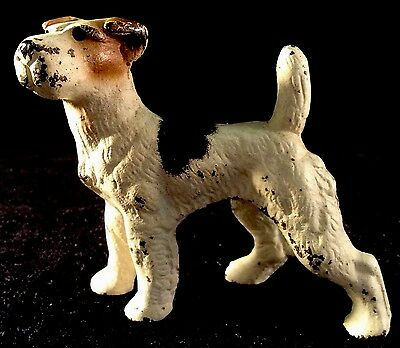 Fox Terrier Cast Iron Painted Paperweight Hubley USA Dog Puppy Canine Metal #2