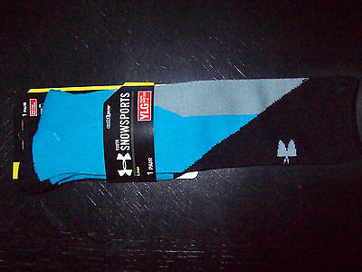 New Under Armour Snowsports Coldgear Youth Over The Calf Socks Lg