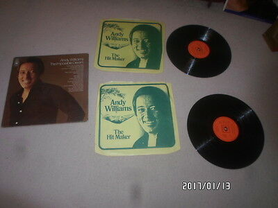 a 2lp vinyl record andy williams,the impossible dream