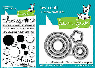 Lawn Fawn Let's Bokeh Stamp and Die Set