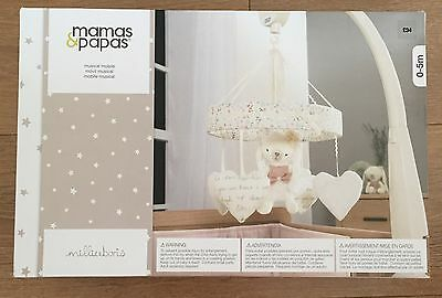 BRAND NEW Mamas And Papas Millie And Boris Girls Pink Cot Mobile