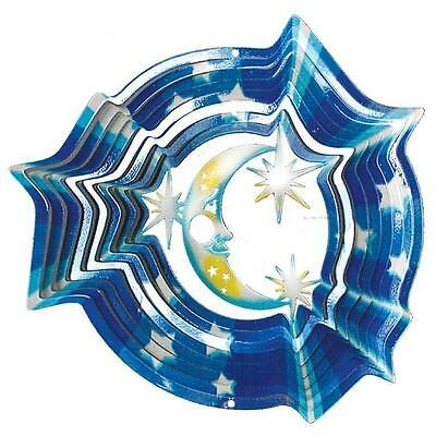 New Blue Moon Wind Spinner with Battery Motor for Stunning Gift.