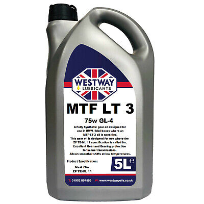5L Mtf-Lt-3 Synthetic Gear Oil For Bmw Mini Lt3 Westway Lubricants 75W Gear Oil