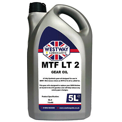 5L Mtf-Lt-2 Synthetic Gear Oil For Bmw Mini Lt2 Westway Lubricants