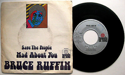 """BRUCE RUFFIN Mad About You / Save The People - 7"""" Ariola 1972 Spain NM REGGAE"""