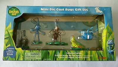 """a bug's life"" Mini Die Cast Bugs Figure Gift Set FRANCIS FLIK HOPPER DIM  ""NEW"""