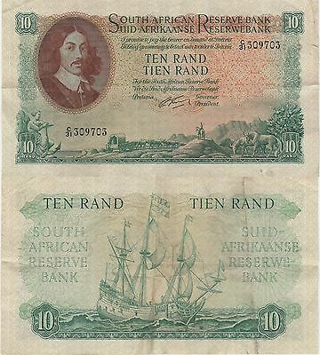 South Africa 10 Rand Banknote,(1962-65) Choice Very Fine Condition Cat#106-B-703