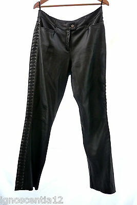 Jean Paul Freiheit Designer Vintage  Real Genuine Leather Trousers 12 14 40
