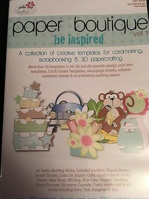 POLKA DOODLES PAPER BOUTIQUE VOL 1 BE INSPIRED  CD ROM 1 DISC COLLECTION Craft