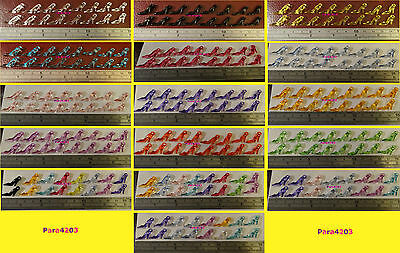 8 Prs Small Plastic/acrylic Shoes - 16 X Shoe Charms - Jewelry/card Making - *uk
