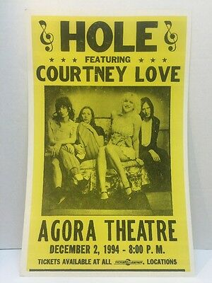 Hole Concert Tour Poster Flyer Featuring Courtney Love
