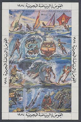 Libya 1984 Water Sports Sc 1164 mint never hinged