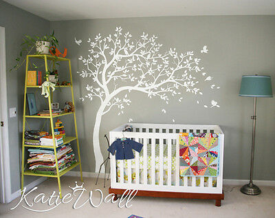 Cute Nursery Tree Wall Sticker Set Baby Room Wall Decoration Nursery Tattoo Kw32 Decals, Stickers & Vinyl Art Baby