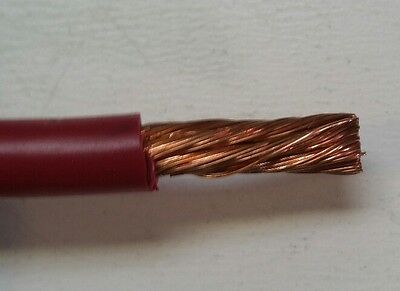 6 Gauge Battery Cable PVC Red Jacketed 25 Ft Roll