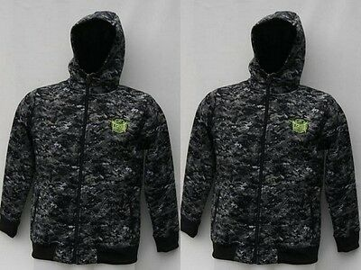 Tapout Ufc Hoody Camouflage Full Zipped Jacket Junior Boys -  Black Aop Rrp £49