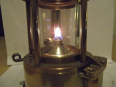 Miners lamp mining memorabilia,Protector  Eccles Type 6 Full Brass excellent