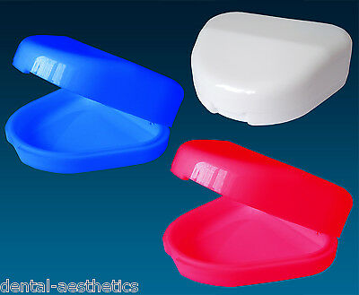 Slim Retainer Case ~ Gumshield Box, Denture Mouthguard Brace Dental Storage Case
