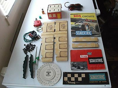 Scalextric Early 1960's Accessories ,books, Parts Lists Shell Bottle Battery Box