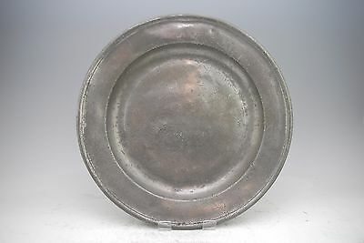 RARE ANTIQUE WIGAN PEWTER CHARGER PLATE BY EDWARD FAIRBROTHER I c1720