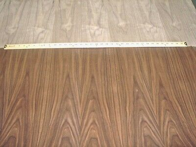 """Walnut wood veneer 24 x 96 inches with paper backer """"A"""" grade 1/40th"""" thickness"""