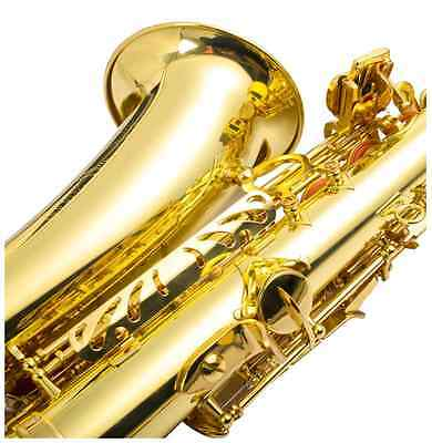 New Professional Eb Alto Sax Saxophone Paint Gold with Case and Accessories
