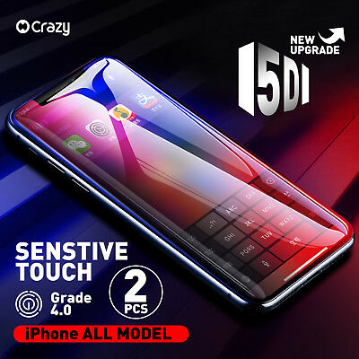 2 X 3D Full Cover Tempered Glass iPhone Screen Protector for iPhone 7 6 6s Plus
