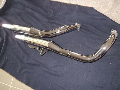 Honda Shadow RS VT750 Exhaust Muffler System as new removed and stored for years