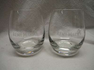 Lot Of 2 Remy Martin Cognac Round Tumbler Glasses