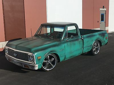 1972 Chevrolet C-10 OTHER PICKUPS NO RESERVE 1972 CHEVY C10 HOT ROD PATINA SHOP TRUCK 454 RESTO OTHER 3100 BAGGED