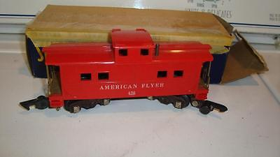 American Flyer 638 Caboose  Very Nice Link Couplers With Original box
