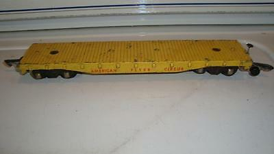 American Flyer Yellow Die Cast Circus Flat Car NO Load