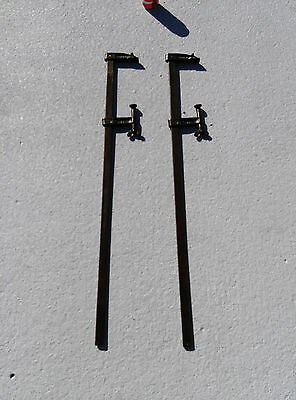 """Two Wetzler Clamps 3'  3 1/2"""" USA Made in Long Island City, NY #1"""