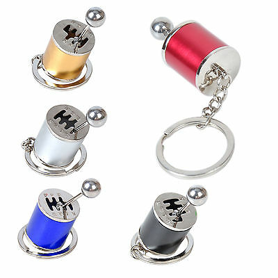 Fashion Metal Car Gearbox Gearshift Gear Shift Box 6-Speed Keyring Keychain Gift
