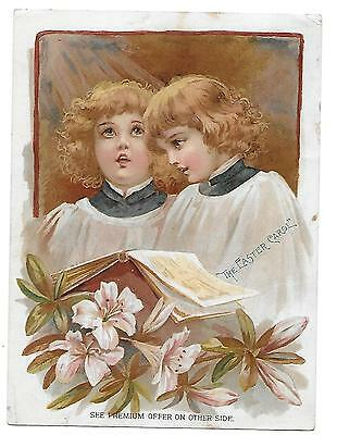 Easter Choir Boys By Frances Brundage - Lion Coffee Victorian Trade Card 1894