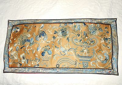 19thC ANTIQUE CHINESE SILK EMBROIDERED PANEL   ----L@@K----: )