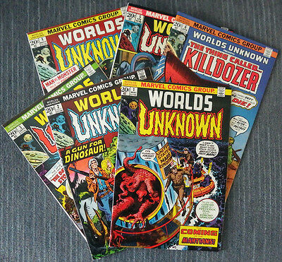 Worlds Unknown #1-#6 - Classic SF stories adapted! Very nice copies!
