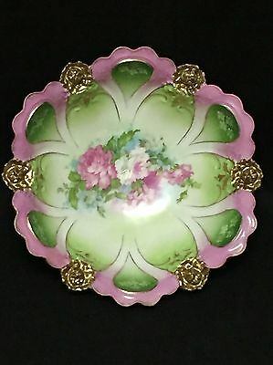 Hand Painted Austrian Porcelain Vegetable Bowl - Hapsburg China  MZ Austria