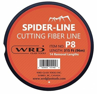 Spider-Line P8 Glass Removal Cutting Fiber Line 315 Ft Spool 14 Removal Lengths