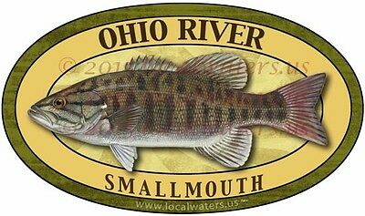 Ohio River Stickers Smallmouth Fishing decal GUARANTEED 3 yrs no fade