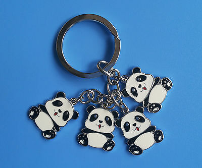 New Lovely 4 Panda Keychain Cute Panda Keychain N04 1PCS