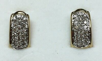 1 Ct Natural DIAMOND Earrings Solid 10K yellow gold